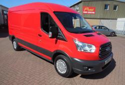 FORD TRANSIT L3 H2 LWB - TREND - RACE RED<br>- ONE OWNER - GREAT SPEC - 125PS