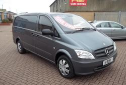 MERCEDES VITO 113 LWB - 2015 - METALLIC GREY - 75,000m - 136 BHP - TWIN SIDE DOORS + TAILGATE - SUPERB COLOUR