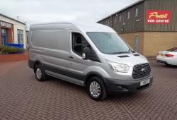 FORD TRANSIT 2016 / 66 - L2 H2 MWB - ONE OWNER - SILVER - AIR CON + HEATED SEATS - FFSH