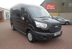FORD TRANSIT 2015 - TREND - L2 H2 MWB -<br>44,000 miles - BLACK - ONE OWNER FSH