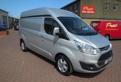 16-FORD TRANSIT CUSTOM LWB HIGH ROOF<br>125PS LIMITED