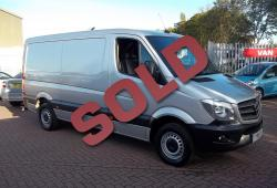 MERCEDES 313 MWB SPRINTER - TRULY IMMACULATE - SAT NAV + SILVER + CRUISE