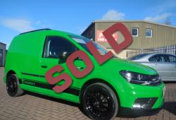 VOLKSWAGEN CADDY 2017 - SPECIAL ORDER HOLLAND GREEN PAINT - ONE OFF - 19,000m - 2.0 102ps EURO 6
