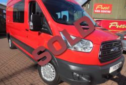 FORD TRANSIT 2014 - L3 H3 - 155ps - WINDOW VAN - AIR CON - FWD - RACE RED - 61,000m - SIMPLY SUPERB
