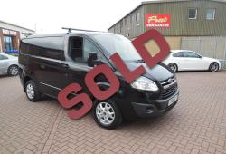 FORD TRANSIT CUSTOM - 2013 / 63 - LIMITED - 155ps - ONE OWNER - FFSH - BLACK