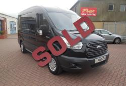 FORD TRANSIT 2015 - TREND - L2 H2 MWB - 44,000 miles - BLACK - ONE OWNER FSH