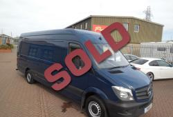 2017 MY MERCEDES SPRINTER 314 EX-LWB - L4 - AIR CON - SAT NAV - BLUE