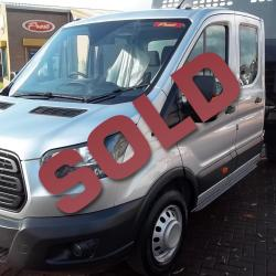 FORD TRANSIT 350 170 PS DOUBLE CAB TIPPER.
