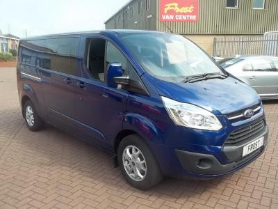 FORD TRANSIT CUSTOM 2015 - L2 LWB - 125PS - 6 SEAT - LIMITED - IMPACT BLUE - 70,000m